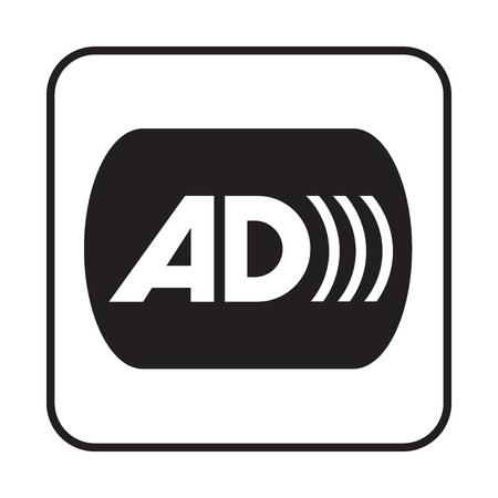 Audio description symbol illustration