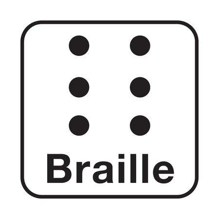 Braille symbol icon illustration