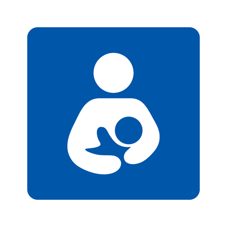 Breastfeeding sign pictogram illustration Reklamní fotografie