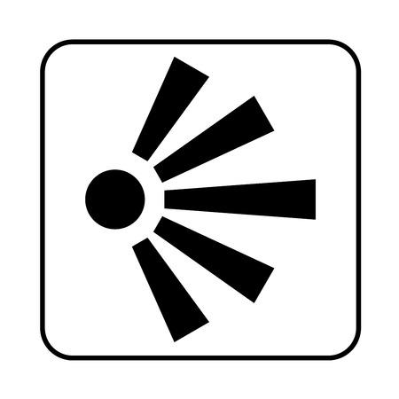 View point sign illustration Stok Fotoğraf