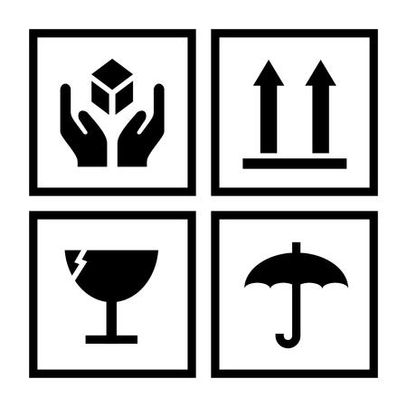 Illustrazione dei simboli di gestione del pacchetto