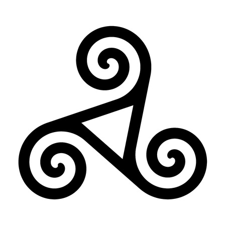 Triskelion with hollow triangle symbol icon Stok Fotoğraf - 121658871