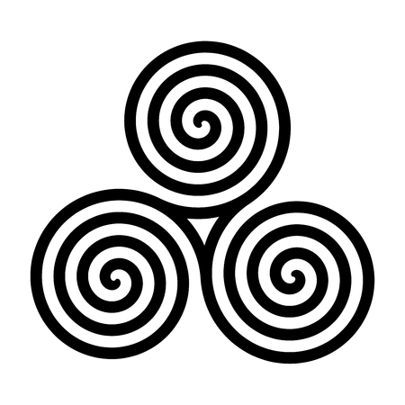 Triskelion symbol icon illustration