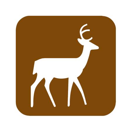 Brown deer viewing area recreational sign