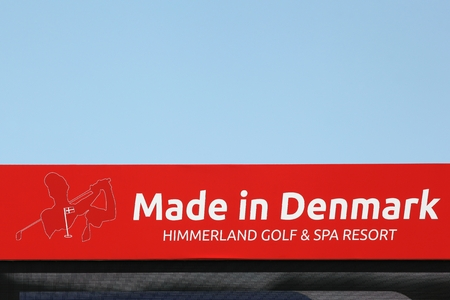 Himmerland, Denmark - August 23, 2017: Made in Denmark sign on a panel. Made in Denmark is a European Tour golf tournament played annually in Denmark