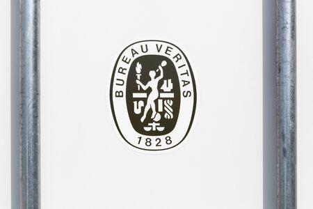 Viby, Denmark - June 5, 2019: Bureau Veritas logo on a container. Bureau veritas is an international certification agency
