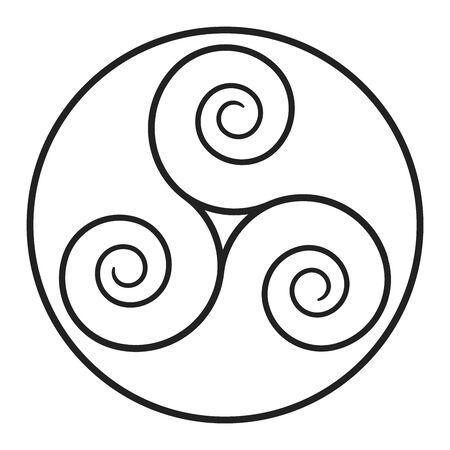 Triskelion symbol icon with a white background Фото со стока