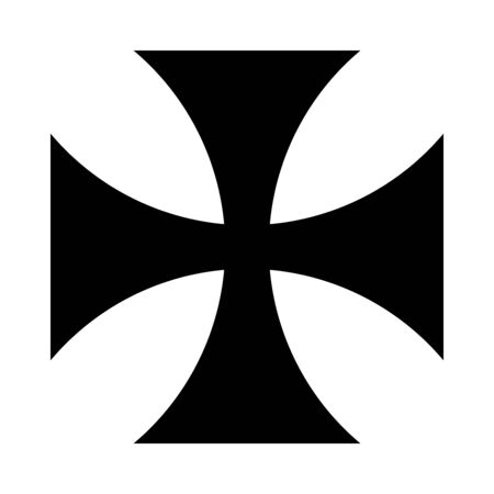 Cross pattee symbol icon