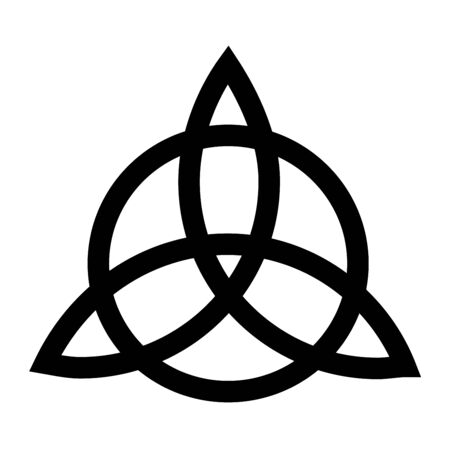 Triquetra symbol with a white background