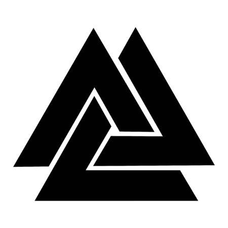 Valknut symbol icon