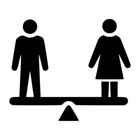 Gender equality symbol Stock Photo