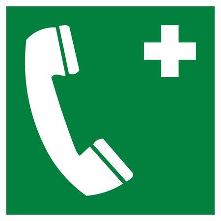 Emergency telephone symbol 스톡 콘텐츠