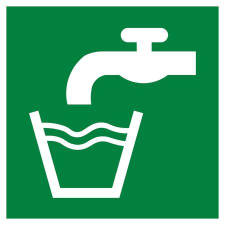 Drinking water symbol Stock Photo