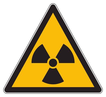 Yellow warning radioactive substances sign Фото со стока