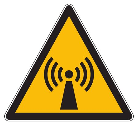 Non ionising electromagnetic radiation sign