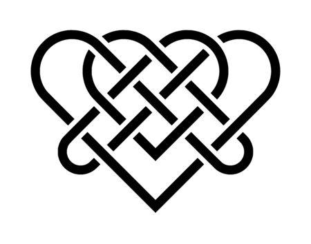 Celtic knot heart symbol