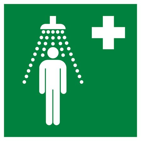 Safety shower symbol