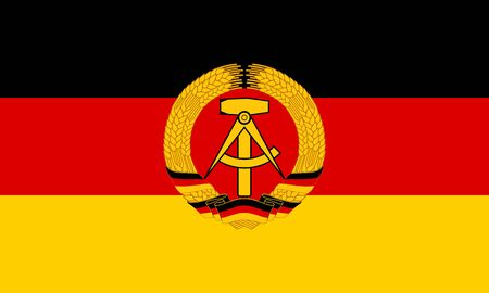 Flag of East Germany 写真素材