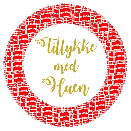 Congratulations with your student cap in danish language