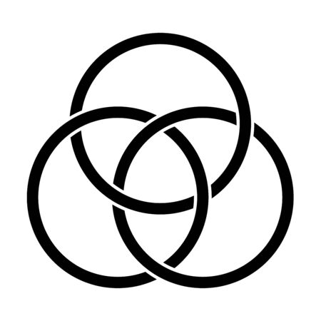 Borromean rings symbol illustration