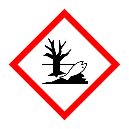 Pictogram for environmentally hazardous substances 写真素材