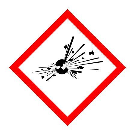 Pictogram for explosive substances Reklamní fotografie