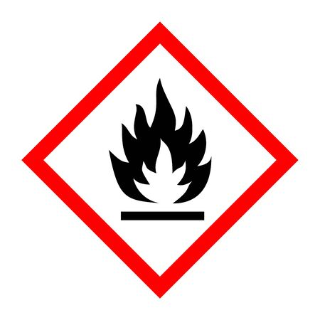 Pictogram for flammable substances