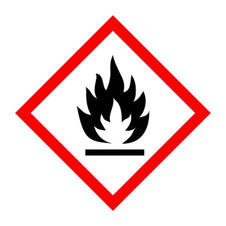 Pictogramme pour substances inflammables Banque d'images