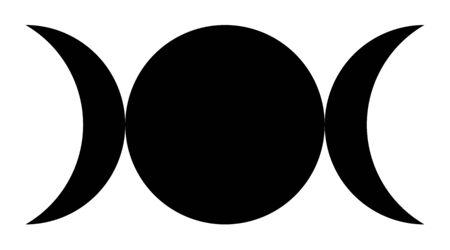 Triple goddess symbol Фото со стока