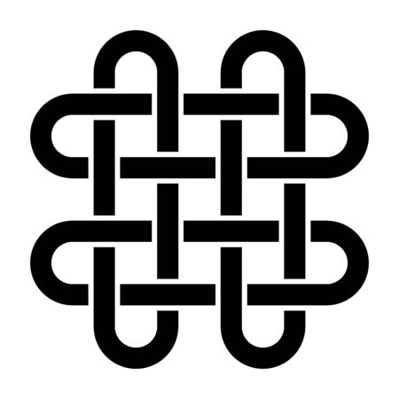 Solomons knot symbol with a white background