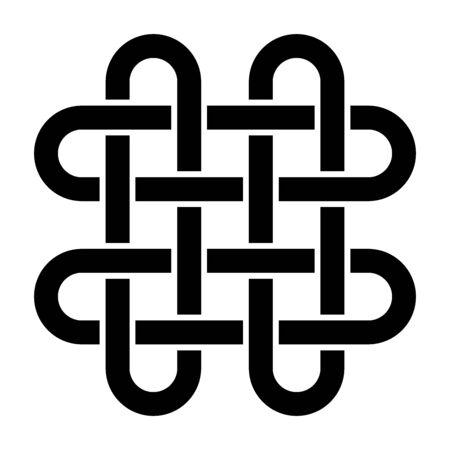 Solomon's knot symbol with a white background Banco de Imagens