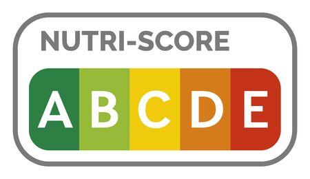 Nutri-score label system in France Фото со стока