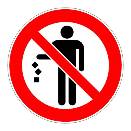 Do not litter sign 免版税图像