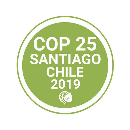 Symbol COP 25 in Santiago, Chili
