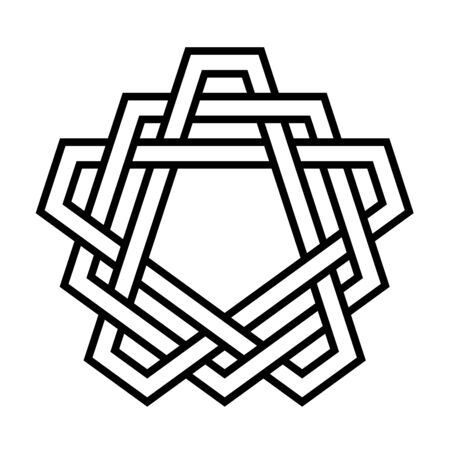 Pentagonal knot symbol illustration