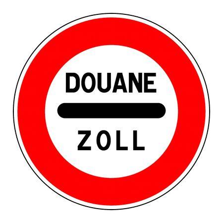 Douane zoll sign illustration