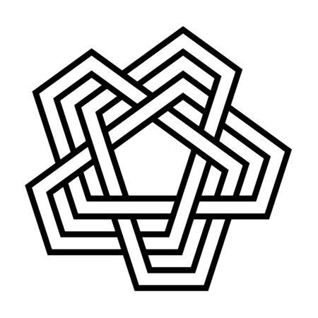 Unicursal knot symbol illustration