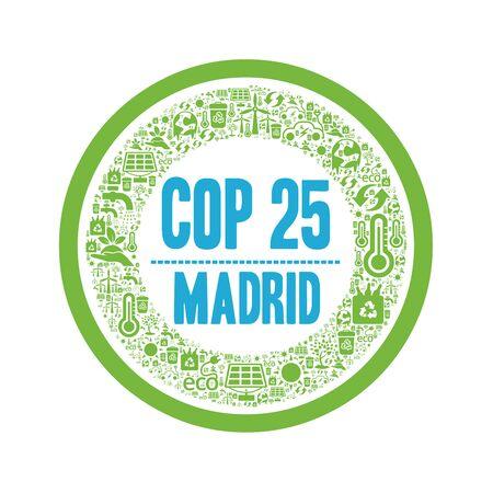 COP 25 in Madrid, Spain Banco de Imagens