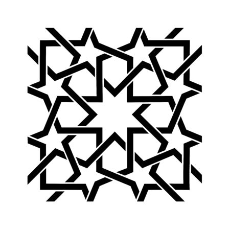 Kufic pattern symbol with a white background Stock Photo