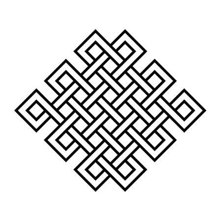 Endlose Knotensymbolillustration