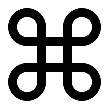 Looped square symbol illustration
