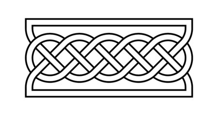 Celtic rectangular knot illustration