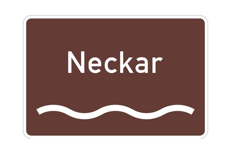 Neckar river sign in Germany