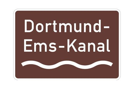 Dortmund Ems canal sign in Germany