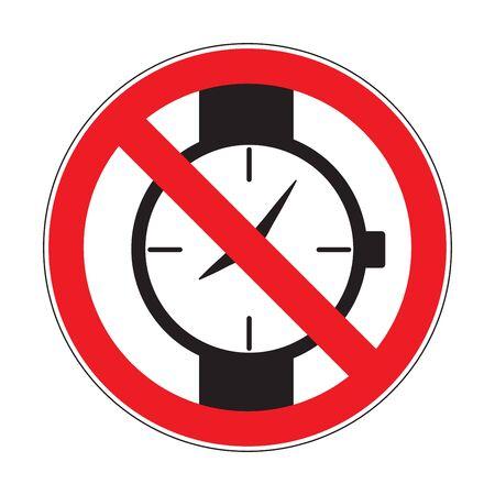 No watches sign Stock fotó