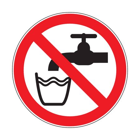 Do not drink the water sign