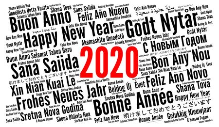Happy New Year 2020 in different languages