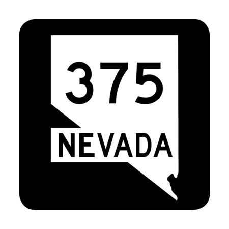 Nevada state route 375 sign