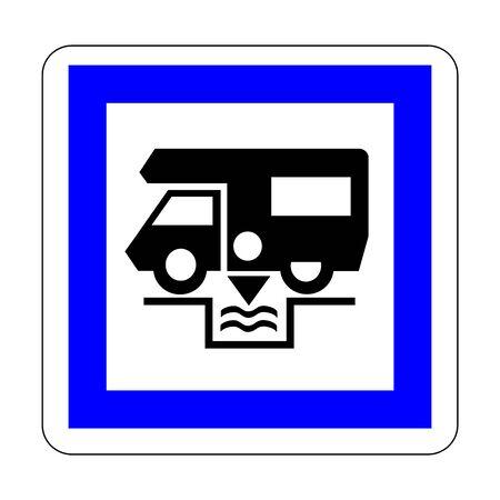 Dumping station for camping car symbol Reklamní fotografie