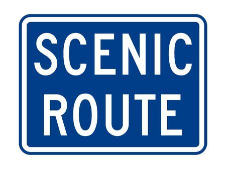 Señal de ruta escénica